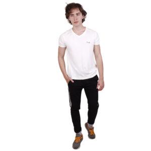 Basic track pant – Black melange