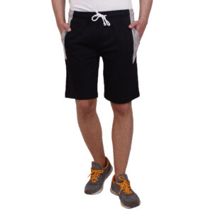 Black Regular Fit Shorts
